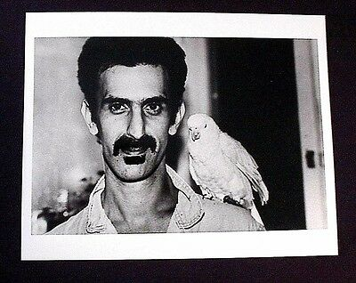 Frank Zappa Short Haircut W/ Bird 8X10 B/W Photo Mothers Of Invention Beefheart