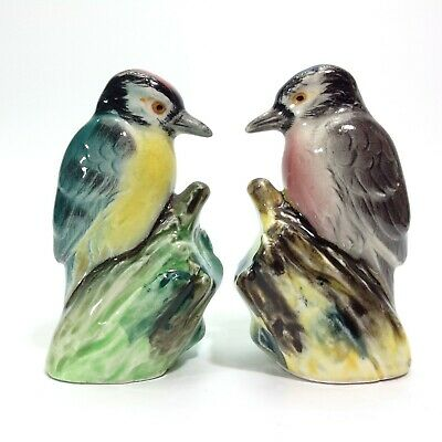 Vintage Ceramic Figural Bird Salt & Pepper Shakers