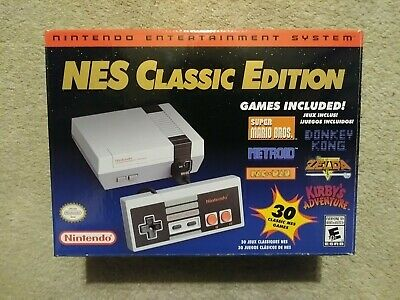 Empty Box Nintendo Entertainment System Classic Edition NES BOX ONLY! NO CONSOLE