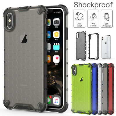 For iPhone XS Max XR 8 7 Plus Case Shockproof Heavy Duty Slim Hybrid Clear Cover