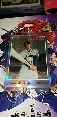 Manny Machado 2019 TOPPS HERITAGE HIGH # CHROME REFRACTOR /569 PADRES