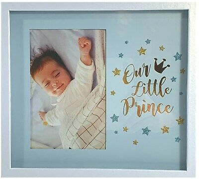 New! Baby Boy Shadow Box Photo Frame Newborn Shower Gift Nursery Keepsake