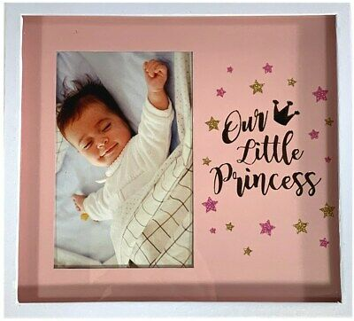 Baby Girl Shadow Box Photo Frame Newborn Shower Gift Nursery Keepsake Princess