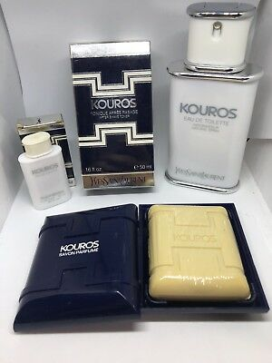 YVES SAINT LAURENT KOUROS VINTAGE profumo edt 100ml YSL parfums corp soap After