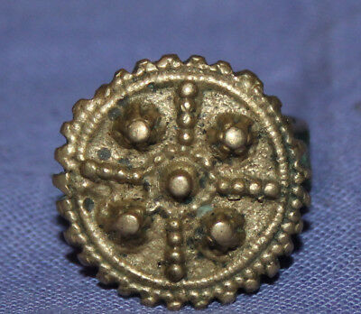 Antique Medieval crusader bronze ring