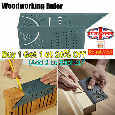 3D Measuring  Gauge Tool Ruler Square Mitre Angle Size Measure For Woodworking -
