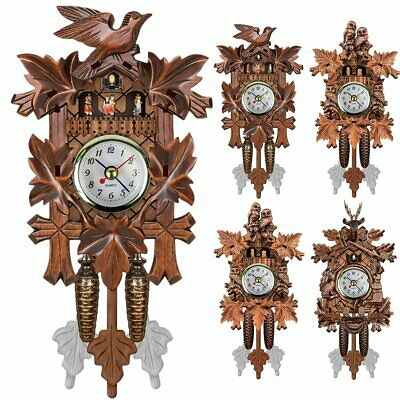 Handcraft Wood Cuckoo Clock House Tree Style Wall Clock Coffee Shop Home Decor
