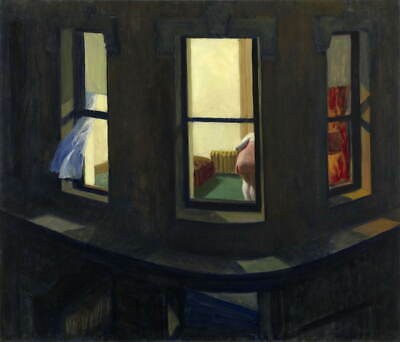 Edward Hopper New York Movie canvas print giclee 8X12/&12X17 reproduction poster