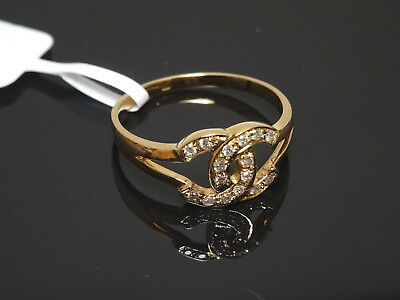 Lovely 14K Yellow Gold 16 Natural Diamond Ring 0.12ct        Size  6.5