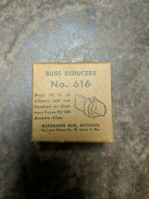 BUSS 616-R Fuse Reducers. New