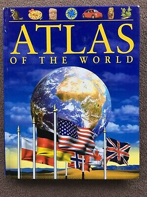 Atlas of the World Hardcover Picture Book Children Geography Educational