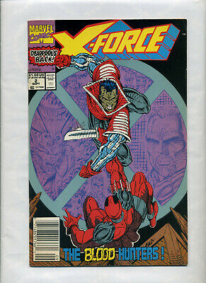 Marvel Comics - X-Force 2 & 19 NEWSSTAND 1991 Deadpool! Cable 2 Issues! Liefeld!