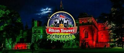 Alton Towers Ticket(s) Scarefest  Sunday 6th October Scarefest 10AM TO 9PM
