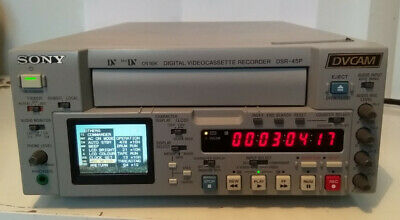 Sony DSR-45P DVCAM Professional Broadcast Video Recorder 21x10 drum hours