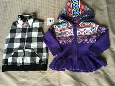 18 month girl's sweater and fleece vest by Carter's and The Children's Place (It