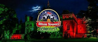 Alton Towers Ticket(s) Scarefest  Friday 18th October Scarefest 10AM TO 9PM