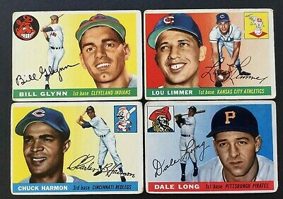 1955 Topps #127 Dale Long  Pittsburgh Pirates  + 3 Assorted Cards