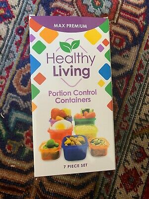 7 PC FOOD Portion Control Containers for Diet and Healthy