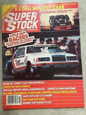 1984 Super Stock & Drag Illustrated NHRA Racing Glidden Beadle Blue Max Gustin