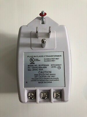 W-Box 0E-Pps2450 24Vac 50Va Power Supply Ground Led Ptc Fuse Class 2 Transformer