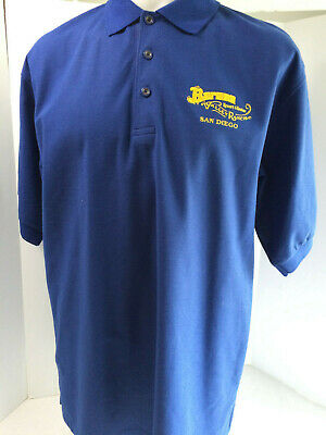 Vintage Barona Valley Ranch Resort and Casino San Diego Polo Shirt Large Blue