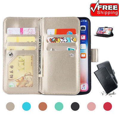 Luxury Business Double Card Slot Shockproof PU Leather Phone Case For iPhone Lot
