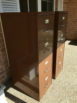 Pair of Namco Filing Cabinets, 4 drawer, Commercial Quality, with keys