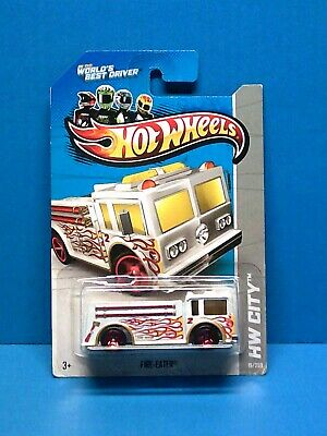 2013  #19 Hot Wheels Treasure Hunt HW City-HW Rescue  FIRE-EATER  white