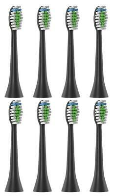 8pcs Replacement Brush Heads for Philips Sonicare DiamondClean Toothbrush Black