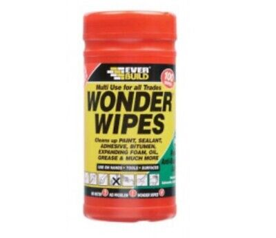 Wonder Wipes Multi Use For Hands Tools Surfaces 100Wipes NEW