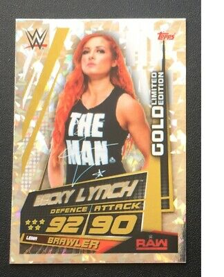 Topps Slam Attax Universe 2019 Becky Lynch Gold Limited Edition