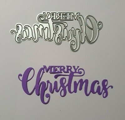 Metal Cutting Die Suitable for Sizzix Cuttlebug machines - Merry Christmas Sign