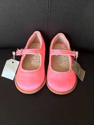 Baby Girls, BNWT, Next, Bright Pink, Buckle, Shoes. Size 3  NEW