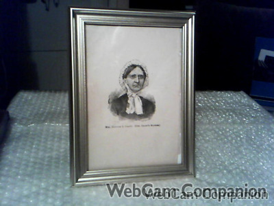 """General Grant's Mother Hannah S. Grant Original 5"""" X 7"""" Framed Print From 1885"""