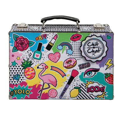 Technic Chit Chat Cosmetic Vanity Case Beauty Gift Set MakeUp Carry Box New