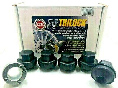 ALLOY WHEEL LOCKING NUTS BLACK FOR LAND ROVER DISCOVERY & DEFENDER M16 x 1.5 117