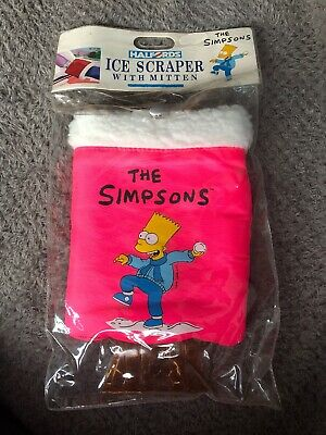 Very Rare Halfords The Simpson's Windscreen Ice Scraper With Mitten - 1991