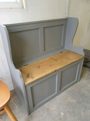 New Handmade Solid Pine 3ft Monks Benches Farrow And Ball Colour Choice