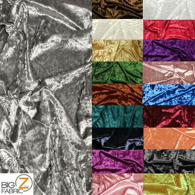 Crushed Stretch Velvet Costume Fabric By The Yard Diy Dress Free Shipping Decor