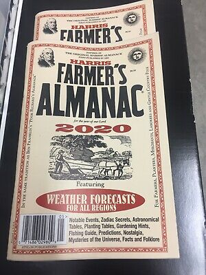 Harris Farmers Almanac 2020 Weather Forecasts For All Regions Brand New