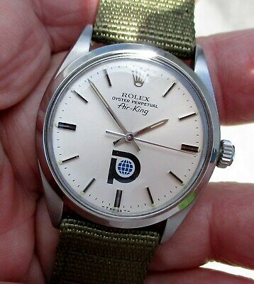 VINTAGE ROLEX MENS AIR,KING GOLD SHELL Watch 34MM Jubilee C