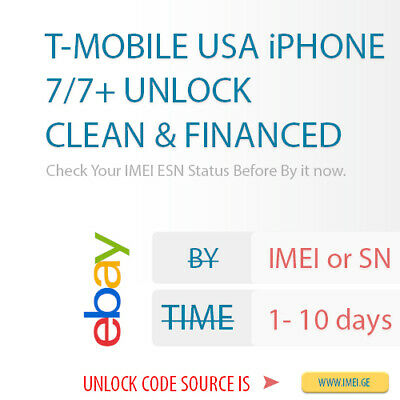 T-MOBILE USA iPhone 7/7+ Factory Sim Unlock Service - Supported Clean & Financed