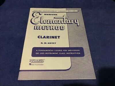 Hal Leonard Rubank Elementary Method Clarinet Library No 34