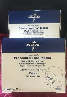 Medline Procedural Face Masks Lot (2)