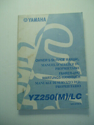 Yamaha Yz125 (M) / Lc  Official Owners  Service Repair  Manual