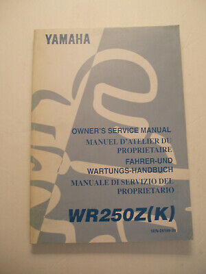 Yamaha Wr250 Z (K)  Official Owners  Service Repair  Manual