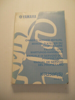 Yamaha Wr250 F (S)  Official Owners  Service Repair  Manual