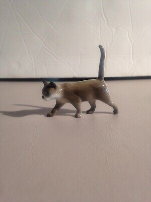 Vintage Japanese Siamese Cat Walking Miniature Collectible