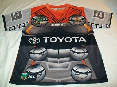 separation shoes a7495 cf48f NWT NORTH QUEENSLAND Cowboys ISC NRL Short Sleeve Marvel Rugby Jersey - Men  LRG
