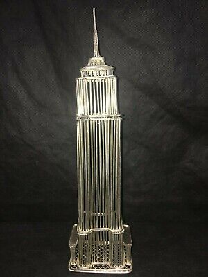 """Vintage EMPIRE STATE BUILDING METAL WIRE STRUCTURE Model New York City 12 1/4"""""""